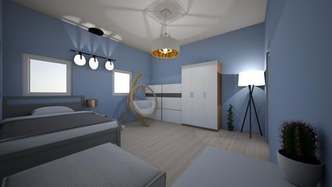 Modern bedroom 2 - Modern - Bedroom  - by Jedrek_123
