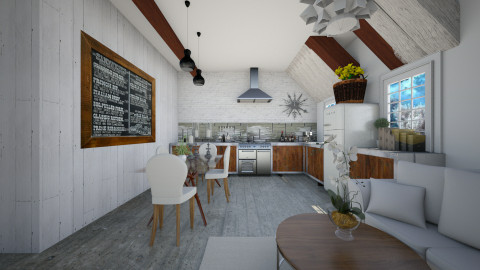 Industrial Chic - Kitchen  - by sissybee