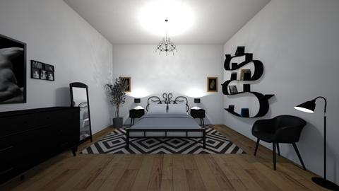 Black room - Bedroom - by Twerka