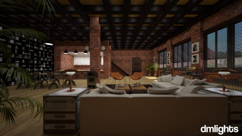 Industrial Loft - Modern - Living room  - by DMLights-user-982267