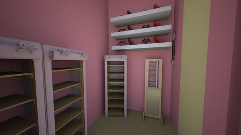 dr built in closet - Feminine - Bedroom  - by ehiahsusn