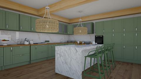 farmhouse kitchen - Kitchen  - by natalieeyauu