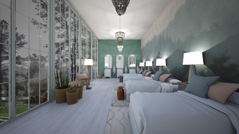 Neutral Dorm - Minimal - Bedroom  - by KylaTH