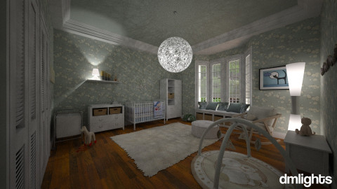 The Stork is coming - Feminine - Kids room - by DMLights-user-1040449