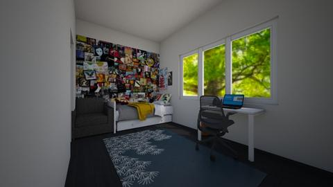 student dorm - Minimal - Bedroom  - by wolfiewolf123