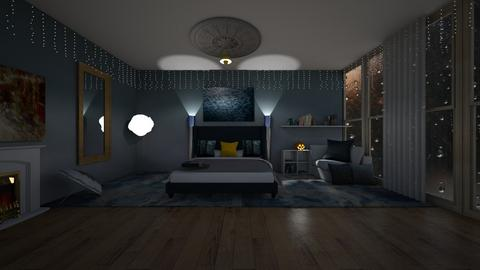 stormy day inspired - Bedroom  - by bluedolphin12