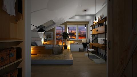 MODERN bedroom - Bedroom  - by sarasepideh