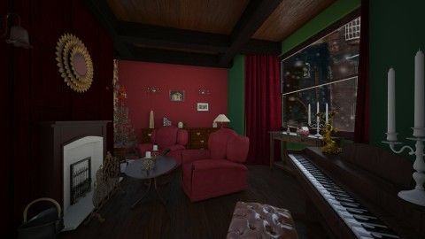 Christmas room - Vintage - Living room  - by CCPompey