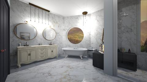 dove marble bath - Bathroom  - by graciecbogardus
