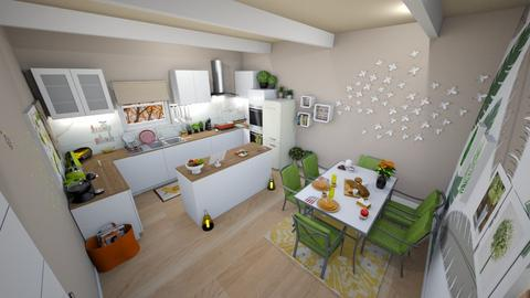 family home 210 - Retro - Kitchen  - by Stavroula Chatzina