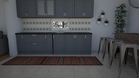Blue Kitchen - Kitchen  - by greekgirl37