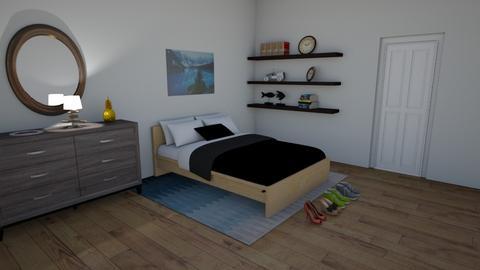 navy neutral spongebob - Modern - Bedroom  - by larsen lewan