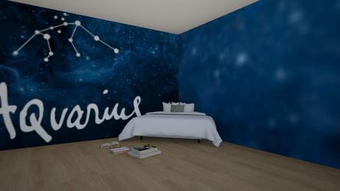 Bedroom for an aquarius - Bedroom  - by artsy_naturelover