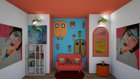 crazy gran - Retro - Living room  - by darcyclayton
