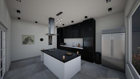 Monochrome kitchen - Modern - Kitchen  - by MLGA07