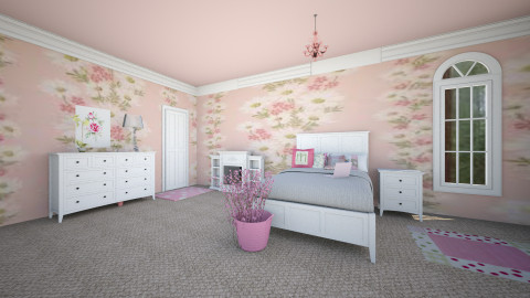 Pink Room - Glamour - Bedroom - by sapphire12