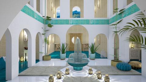Moroccan courtyard - by Esko123