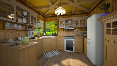All Wood - Rustic - Kitchen  - by Bibiche