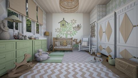 surprise baby nursery - Kids room  - by Charipis home