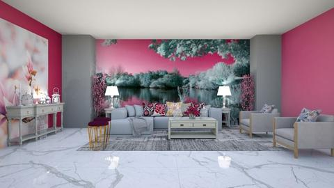 Pink and Grey Living - by Feeny
