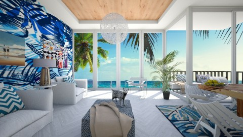 Tropical patterns - Modern - Living room  - by bgref