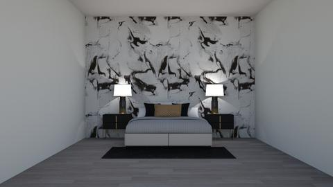 black and white bedroom - Bedroom  - by AGB08