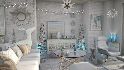 Christmas wall - Living room  - by Moonpearl