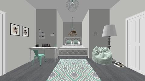 mint blue  - Modern - Bedroom - by nadja976
