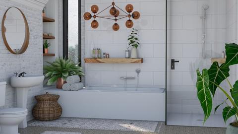 M I N I M AL    B O H O - Bathroom  - by Kelli Mallory