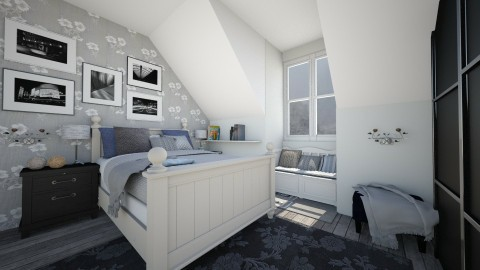 Attic bedroom - Vintage - Bedroom - by Bee0196
