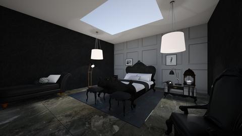 Midnight Black - Bedroom - by AngelicaZhelez