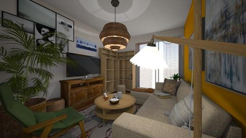stef - Rustic - Living room  - by meriredbika