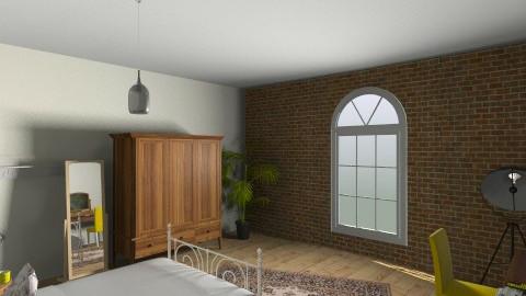 Industrial Loft - Rustic - Bedroom  - by maddiekelly123