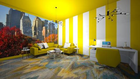 Yellow workplace - Office  - by Agamanta