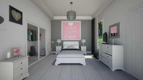 White Bedroom - Glamour - Bedroom  - by Federica_G1993