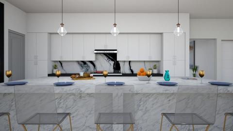 Modern glam - Kitchen  - by flacazarataca_1