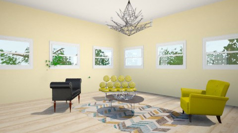 Yellow Room - Retro - Living room  - by Enaj