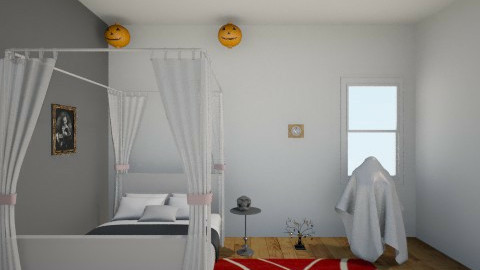 Girls Halloween Bedroom - by Jo Darrel