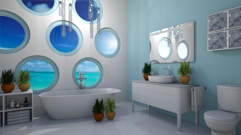 Seaside Bath - Modern - Bathroom  - by millerfam