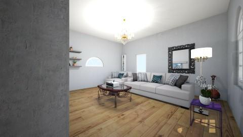 grey room  - Vintage - Living room  - by gavie