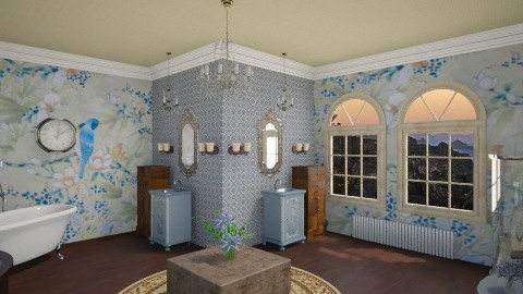Vintage Bathroom - Vintage - Bathroom  - by DiamondJ569