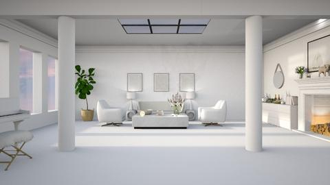 MM White - Living room  - by diegobbf