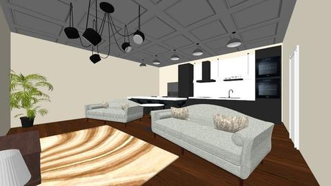 Living room and kitchen  - Minimal - Kitchen  - by Ahmedb