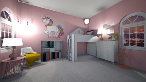 Girls Unicorn Room - Kids room  - by Dwibby46