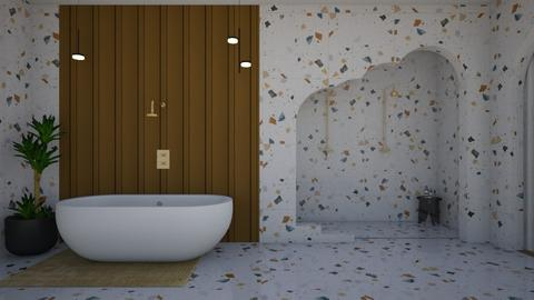 Terrazzo Bathroom - Minimal - by SunflowerStudios