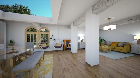 Yellow living 2 - Living room - by Loopsyloo