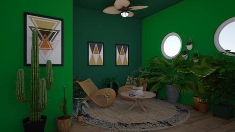 Green - Living room - by canelita