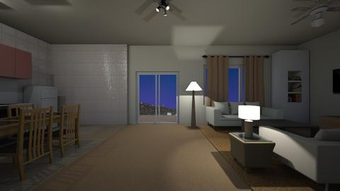 LA Loft Night - Living room  - by mspence03