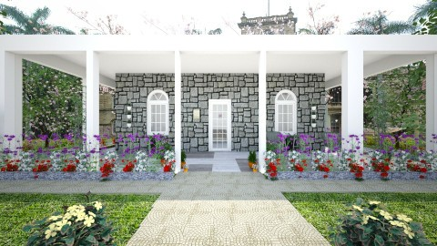 Old Stone Porch - Rustic - Garden - by Irishrose58