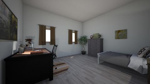 neutral color scheme  - Bedroom  - by mak1616